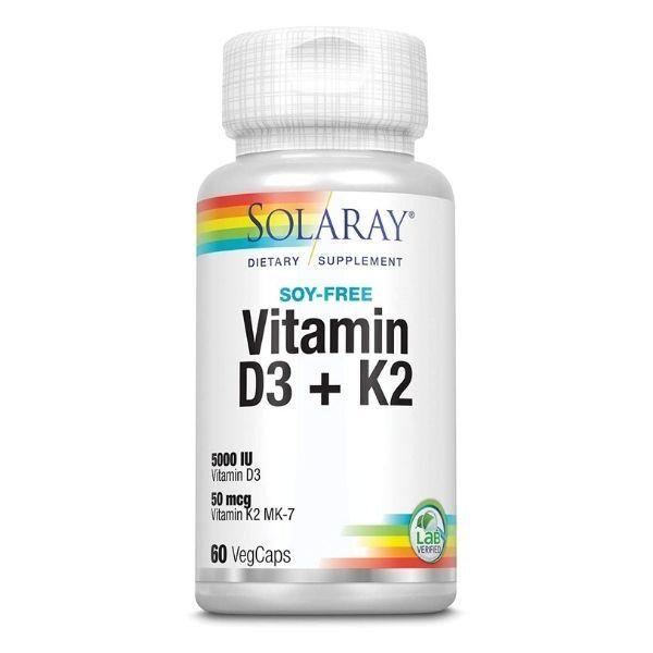 Vitamina D3 + k2 solaray sistema inmune huesos