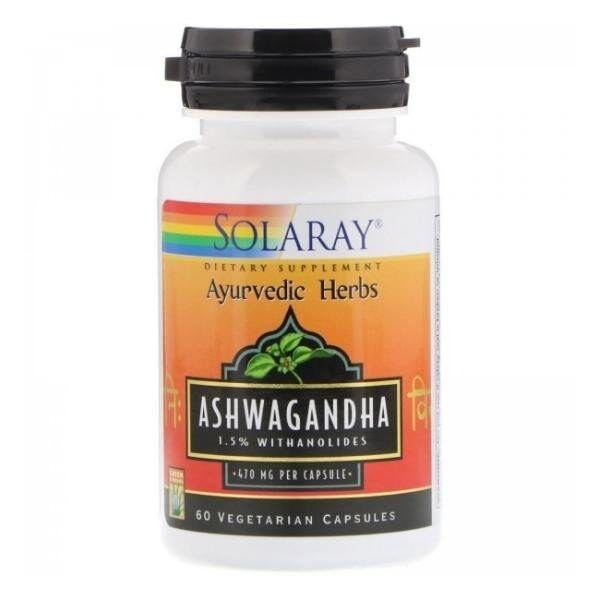 Solray ashwagandha 60 capsulas